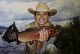 LeAnn & Cutthroat trout