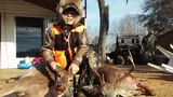 9 year old boy with a buck and a dough