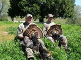 Two happy bird hunters