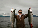 Silver Salmon Fishing in Alaska.