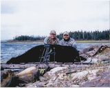 Archery Black Bear Huntiung in Newfoundland Canada.