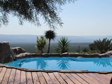 Poolside at Thorndale Safaris Hunting Lodge.