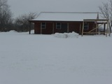 BUnk House in Kansas Winter Time.