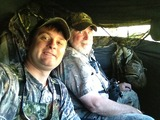 Bud & Chris in the Blind.
