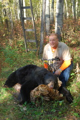 Fall Black Bear Hunting Alberta Canada with Professional Bear Hunting Outfitter