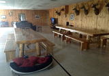Midwest Extreme Hunting, Illinois Deer Hunting Lodge Dining Tables.
