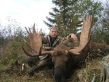 Trophy moose taken at Island Safaris