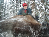 Boss Outfitting, Bull bison and my guides