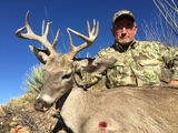 Eric Callow shot this really unique Arizona Coues buck at 360 yards