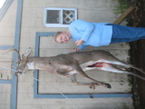 my dear denise with my deer